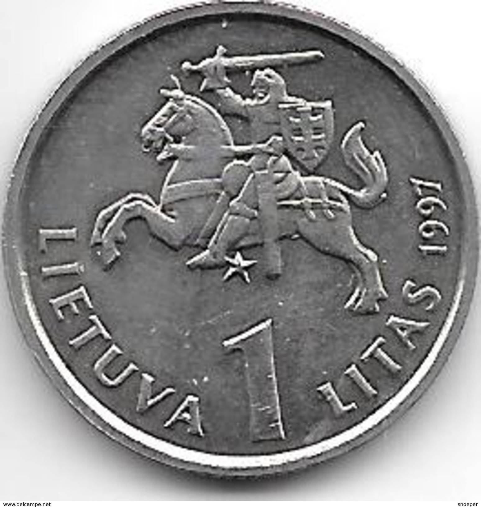 *lithuania 1 Litas   1997  Km 109  Unc - Lithuania