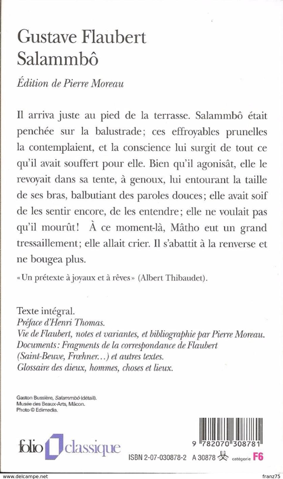 """Salammbô""- Gustave FLAUBERT- Folio Classique- 2006 N°4205-TBE - Livres, BD, Revues"