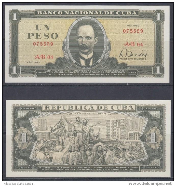 1980-BK-3 CUBA. BANCO NACIONAL. 1$. JOSE MARTI. 1980. UNC - Cuba
