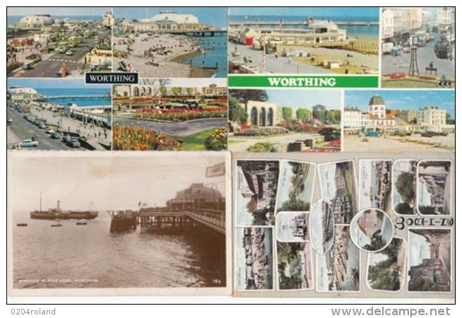 Angleterre -Sussex -  Worthing - 4 Cartes  : Achat Immédiat - Worthing