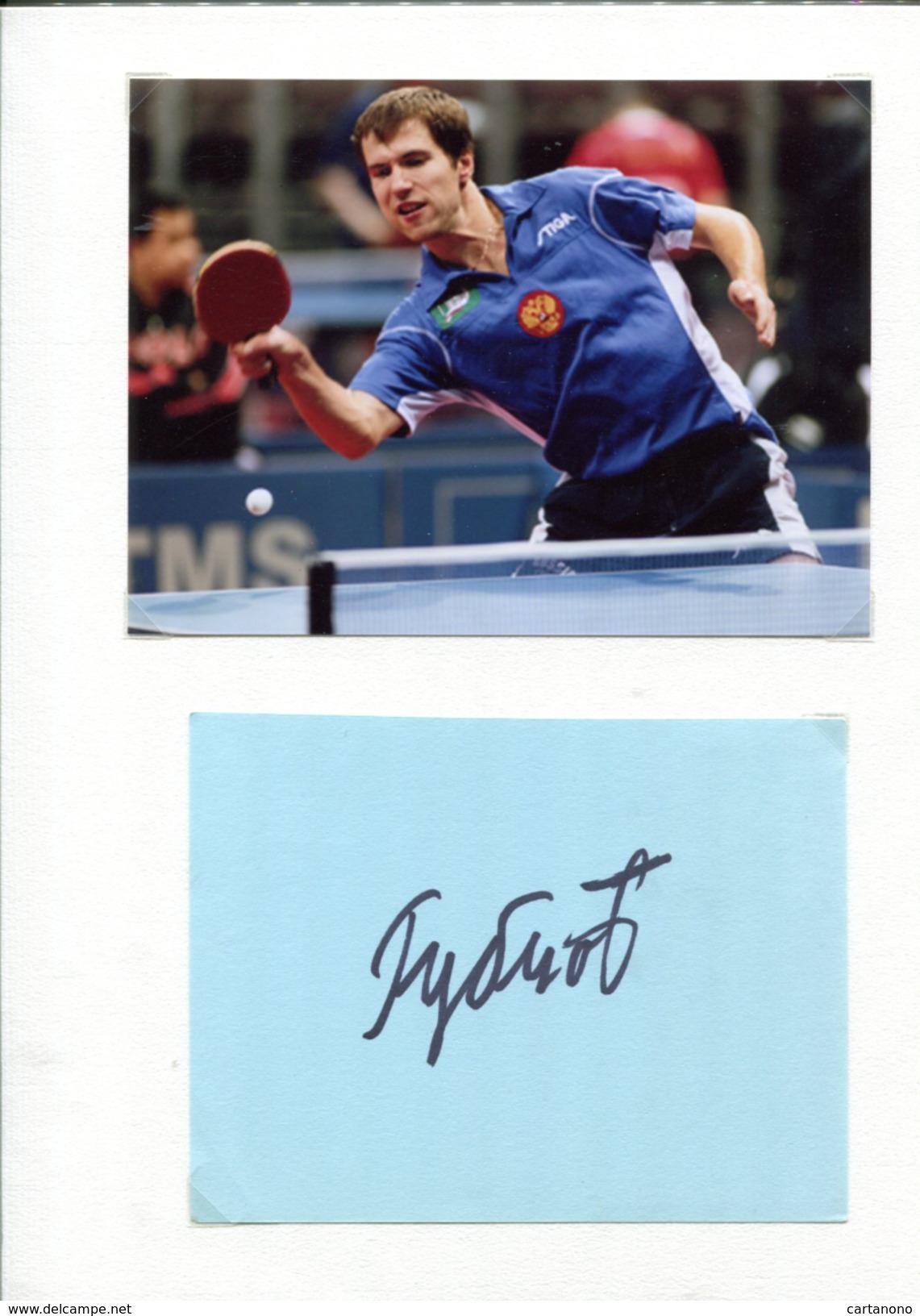 IGOR RUBSTOV (Russie) - Tennis De Table Ping Pong - Autographes