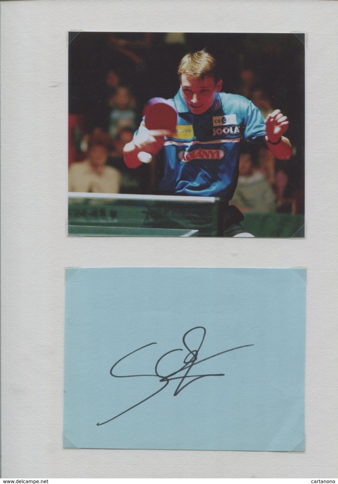 WERNER SCHLAGER (Autriche) - Tennis De Table Ping Pong - Autographes