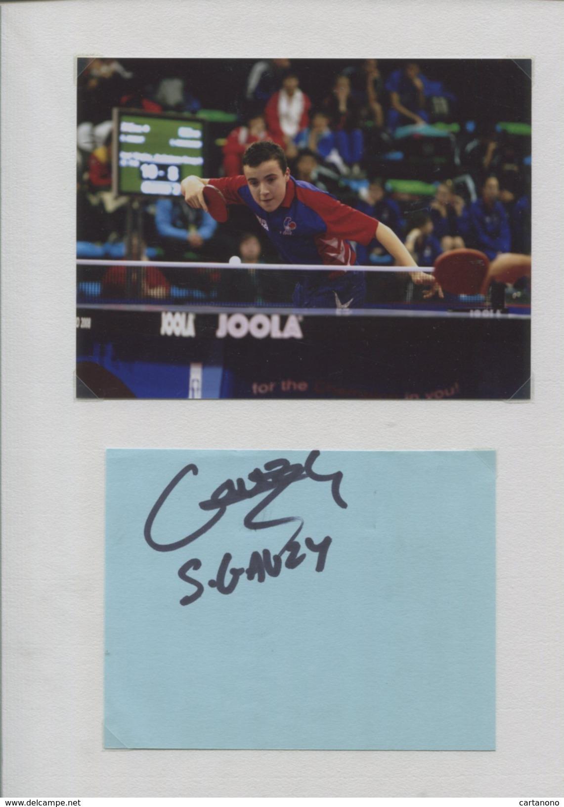 SIMON GAUZY (France) - Tennis De Table Ping Pong - Autographes