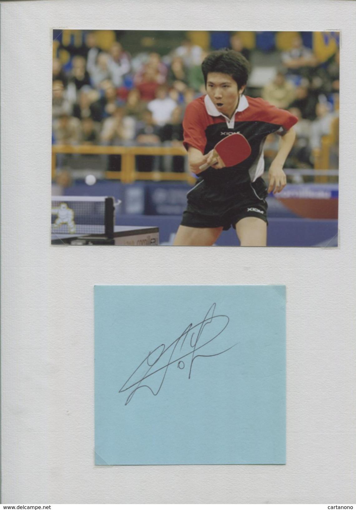 RIU SEUNG MING (Corée Du Sud) - Tennis De Table Ping Pong - Autographes