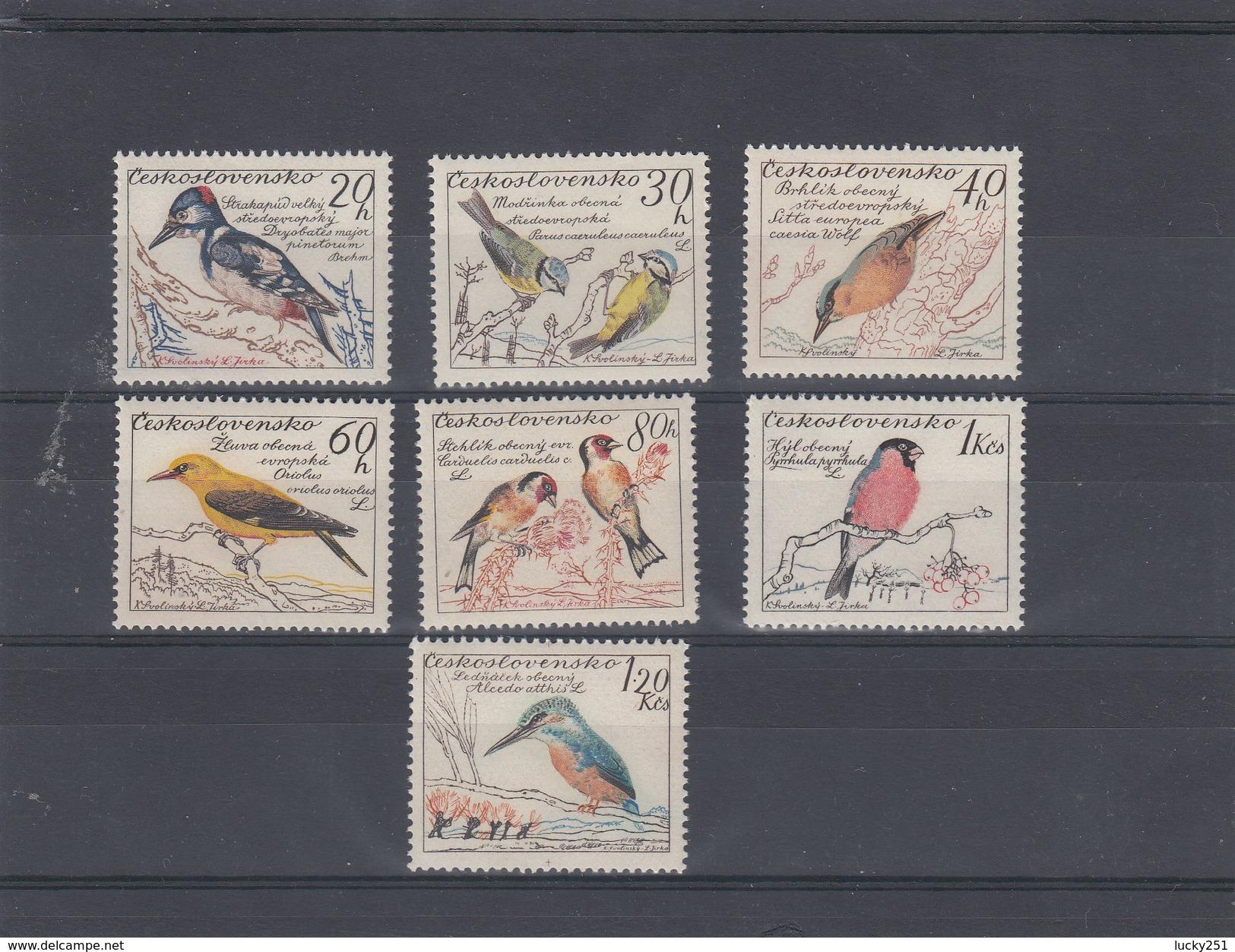 Tchécoslovaquie - Oiseaux Divers, Neufs**, Année 1959, Y.T.1046/1052 - Tchécoslovaquie
