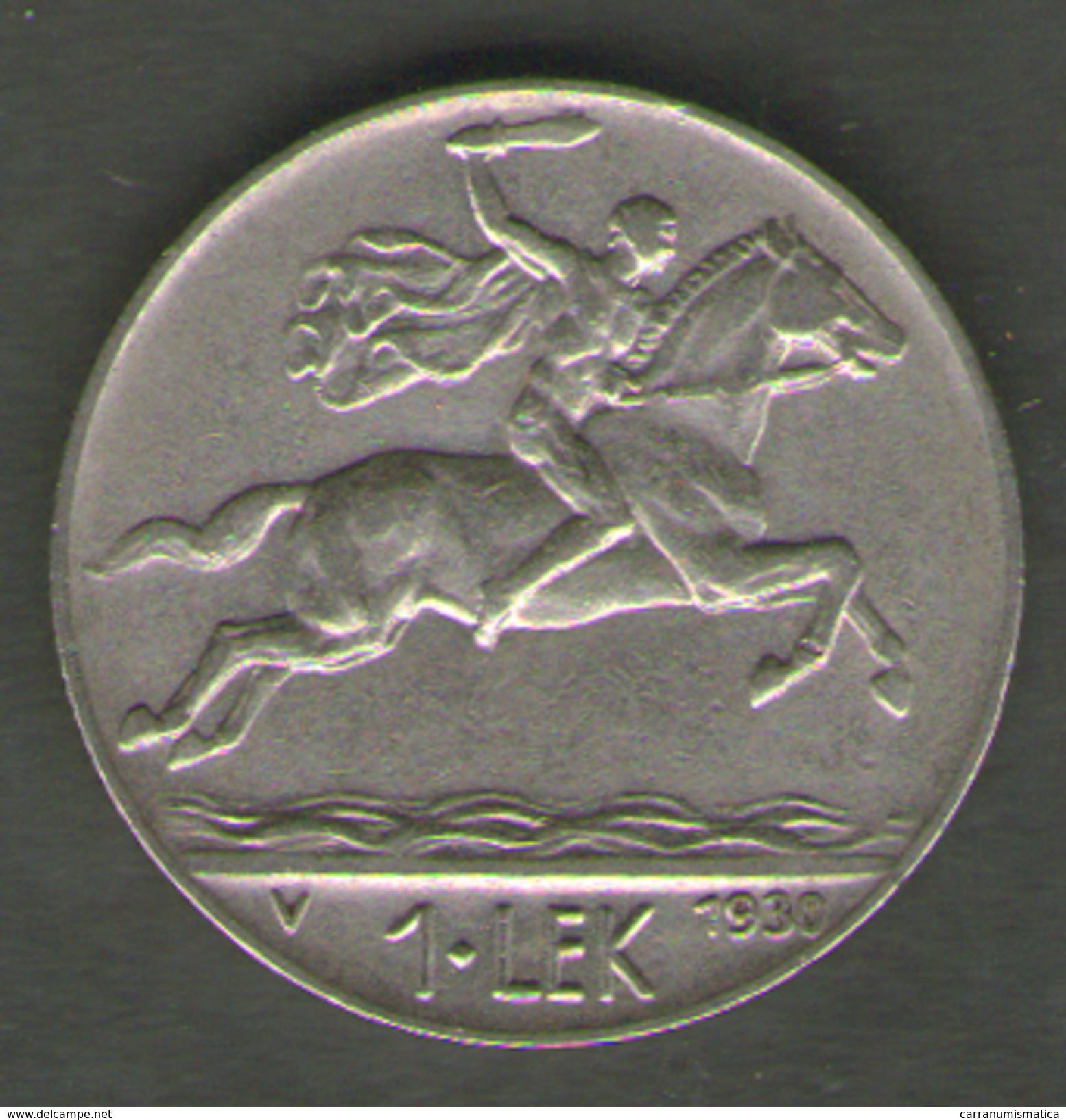 ALBANIA 1 LEK 1930 - Albanie