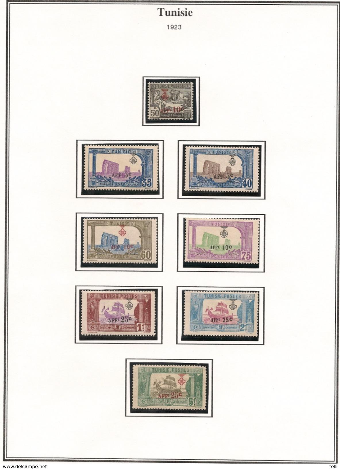 TUNISIE Scott B20-B36 Yvert 79-95 (17) *VLH Cote 180 $ - Neufs
