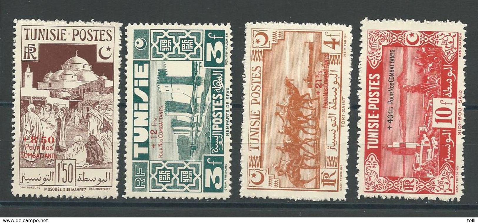 TUNISIE Scott B80-B83 Yvert 269-272 (4) * Cote 5,5$ - Tunisie (1888-1955)
