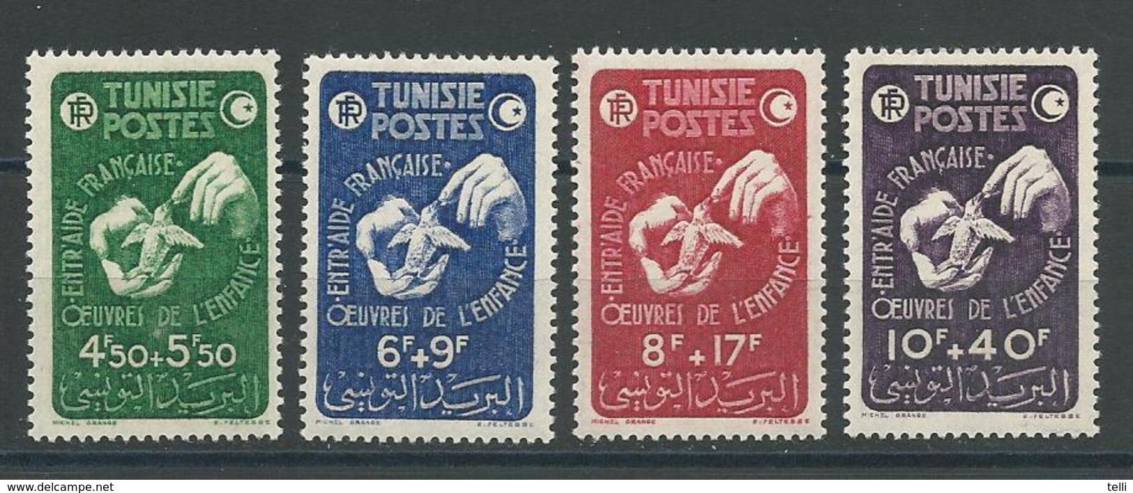 TUNISIE Scott B99-B102 Yvert 320-323 (4) * Cote 8$ - Tunisie (1888-1955)