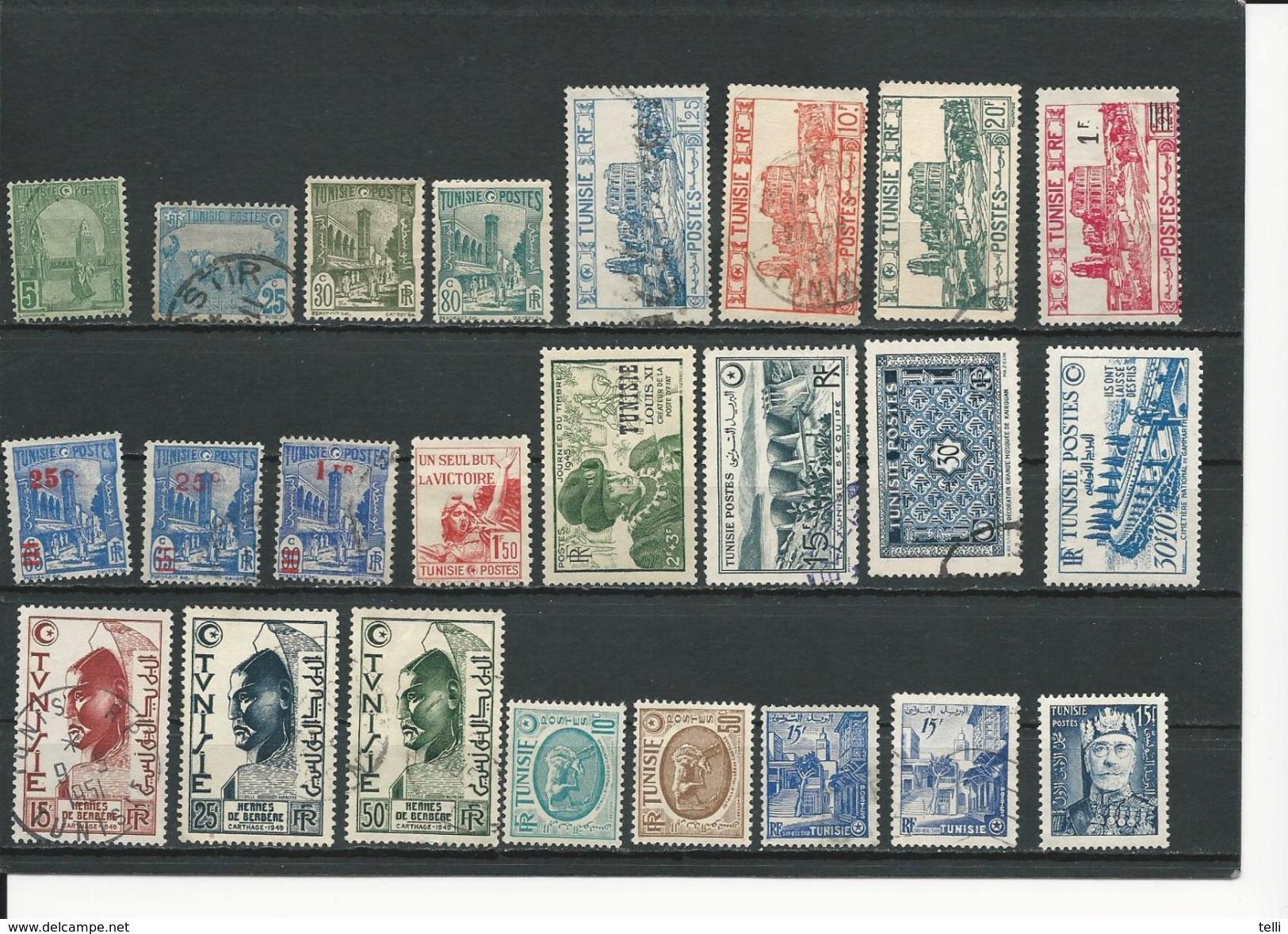 TUNISIE Lot A Voir Scan (24) * Et O Cote 15,5$ 1906-54 - Tunisie (1888-1955)