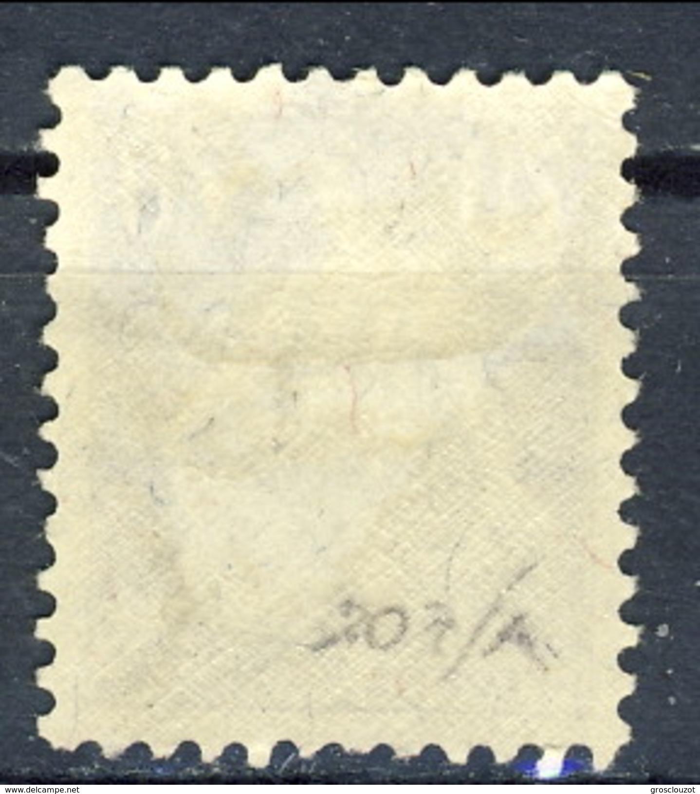 SSvizzera 1924 - 25 N. 207A (carta Goffrata)  C. 70 Violetto E Bistro MNH Cat. € 95 - Nuovi