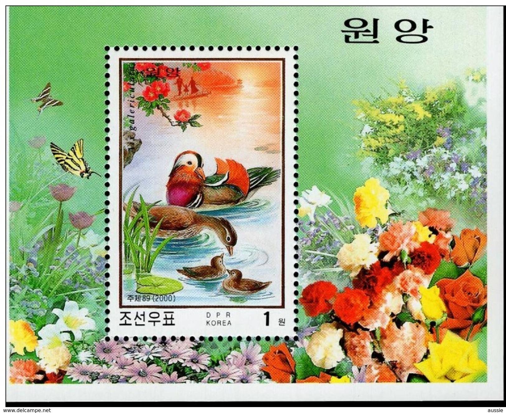 Corée Du Nord Noord-Korea 2000 Yvert Bloc 381 *** MNH  Faune Oiseaux Vogels Birds - Entenvögel