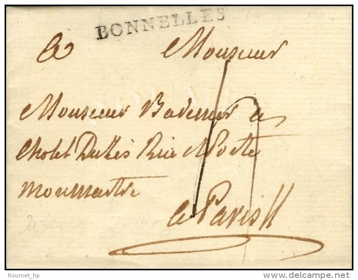 BONNELLES (L N° 1). 1790. (cote : 800). - SUP. - R. - Postmark Collection (Covers)