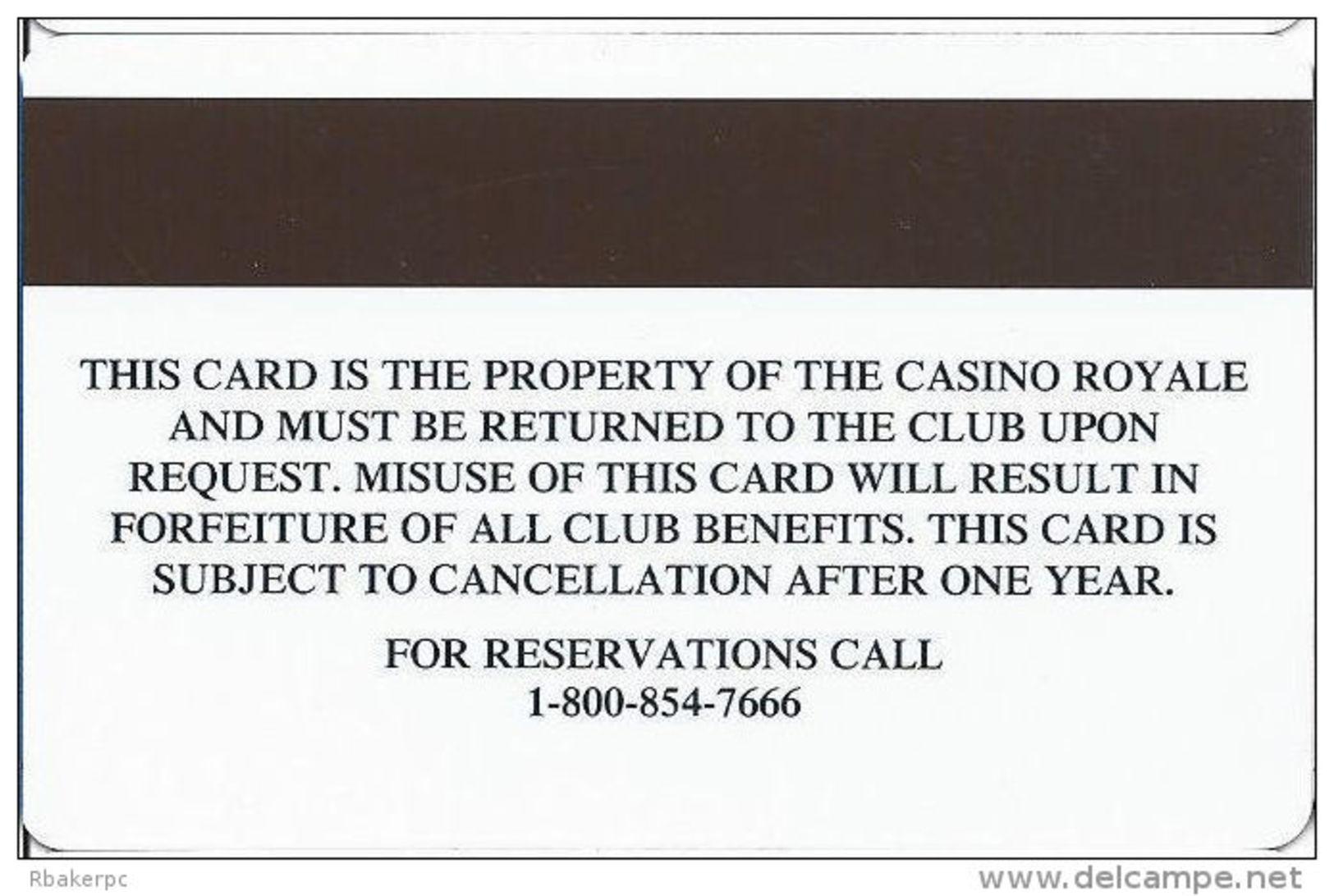 Casino Royale Las Vegas, NV - Slot Card - Casino Cards