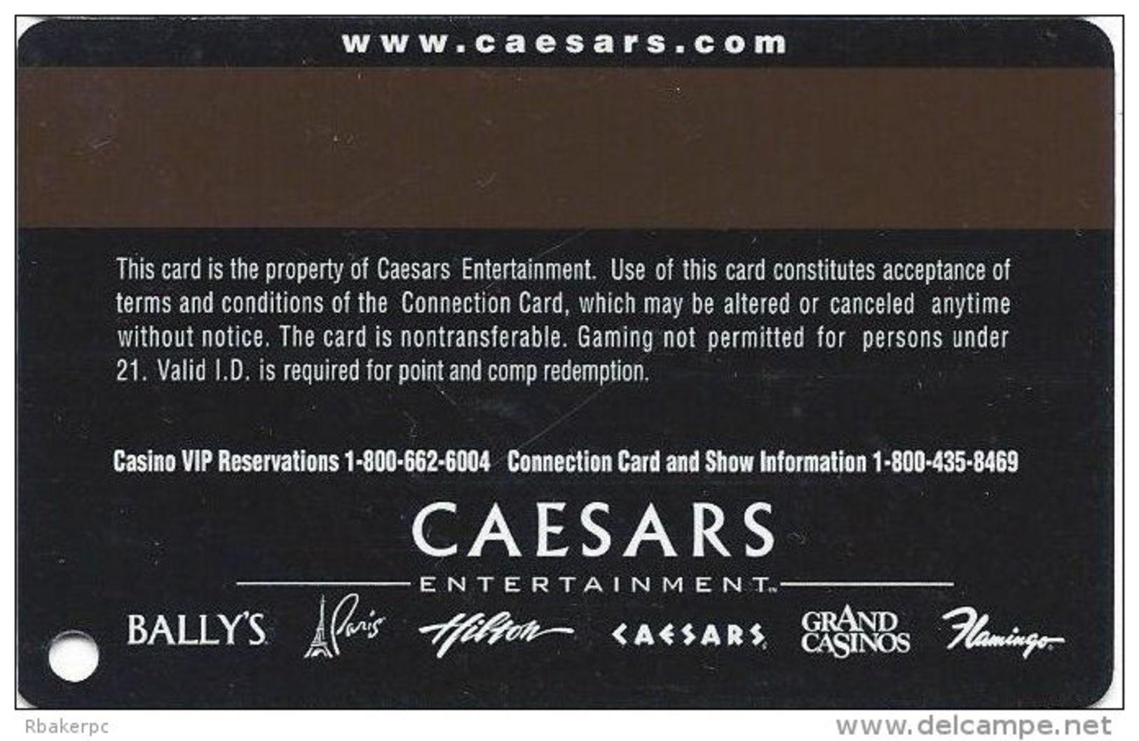Flamingo Hilton Casino Laughlin, NV - Slot Card - Caesars Web Address - GOOD LUCK PLAYER - Casino Cards