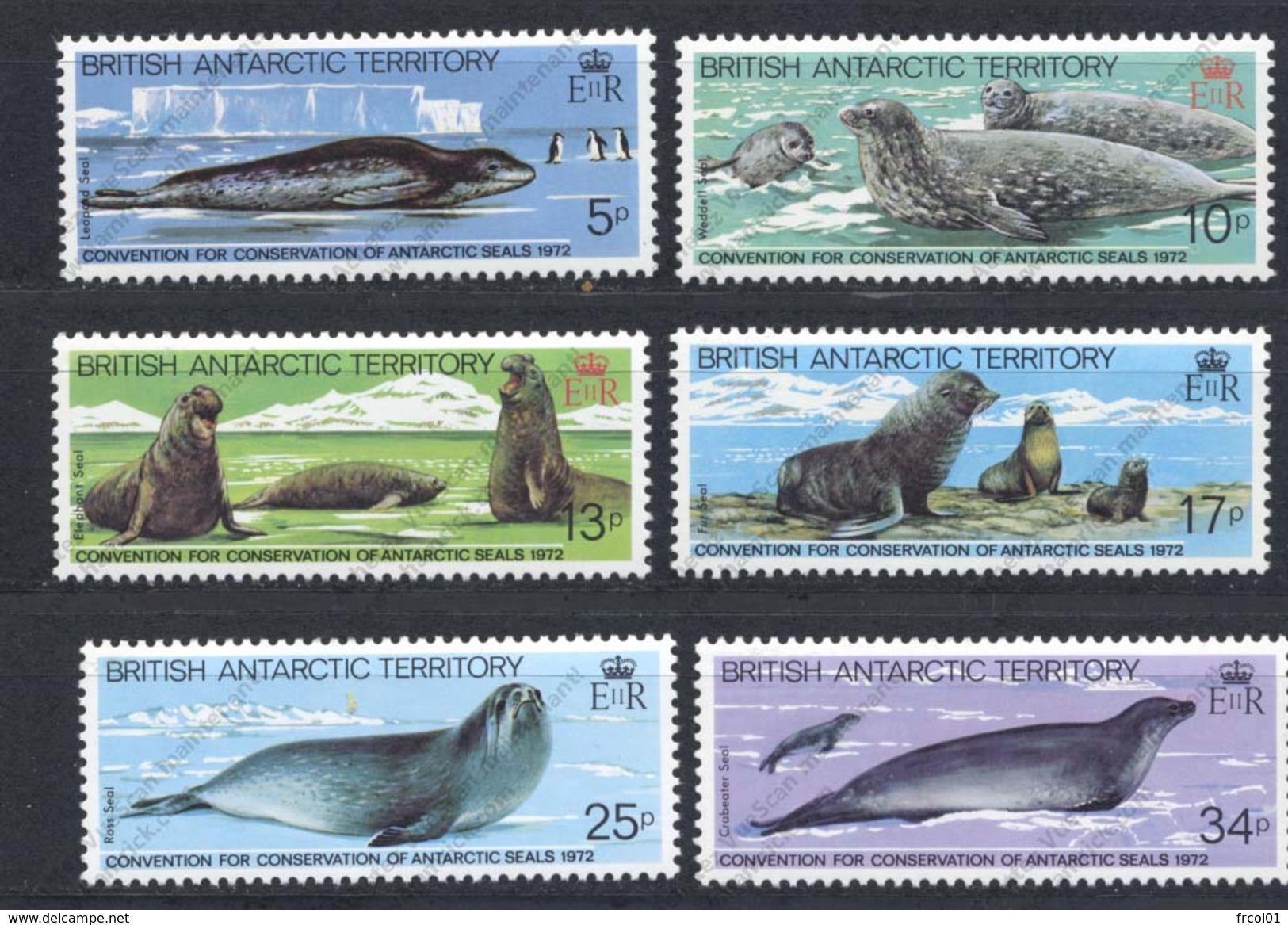 Territoire Antarctique Britannique, Yvert 119/123**, Scott 96/101**, SG 113/118**, MNH - Ungebraucht