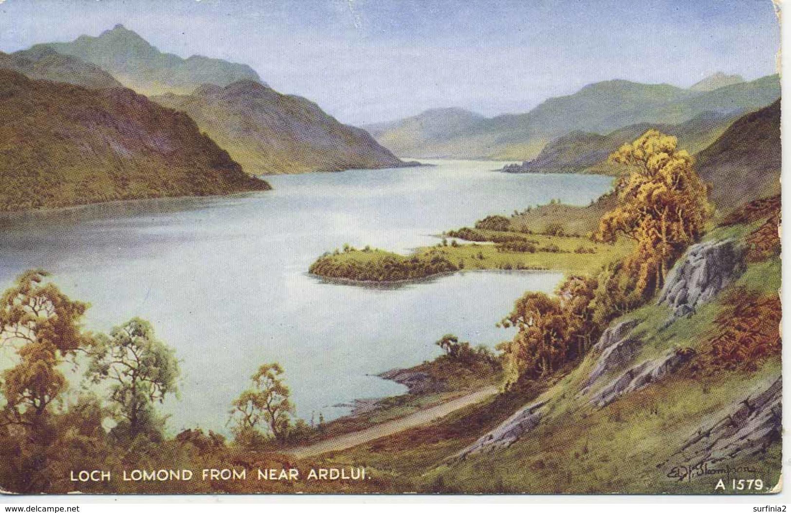 VALENTINES ART A1579 - LOCH LOMOND FROM NEAR ARDLUI - E H THOMPSON - Inverness-shire