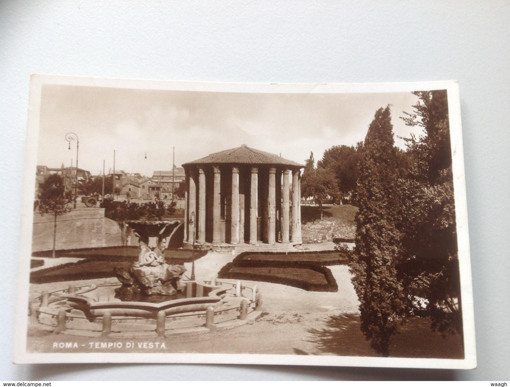 56 - ROMA Tempio Di Vesta - 1943 - Roma