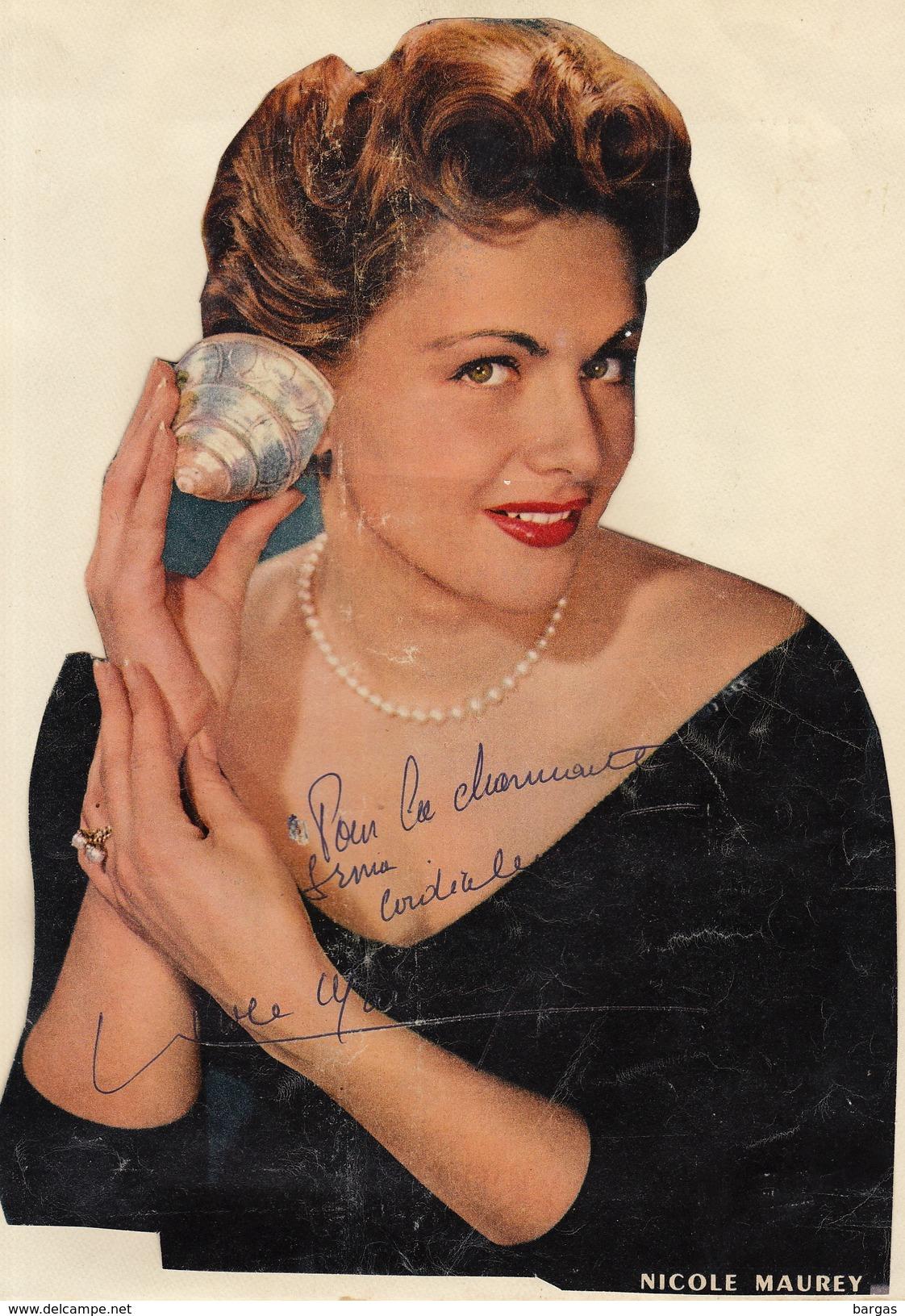 Autographe De Nicole Maurey - Autographs