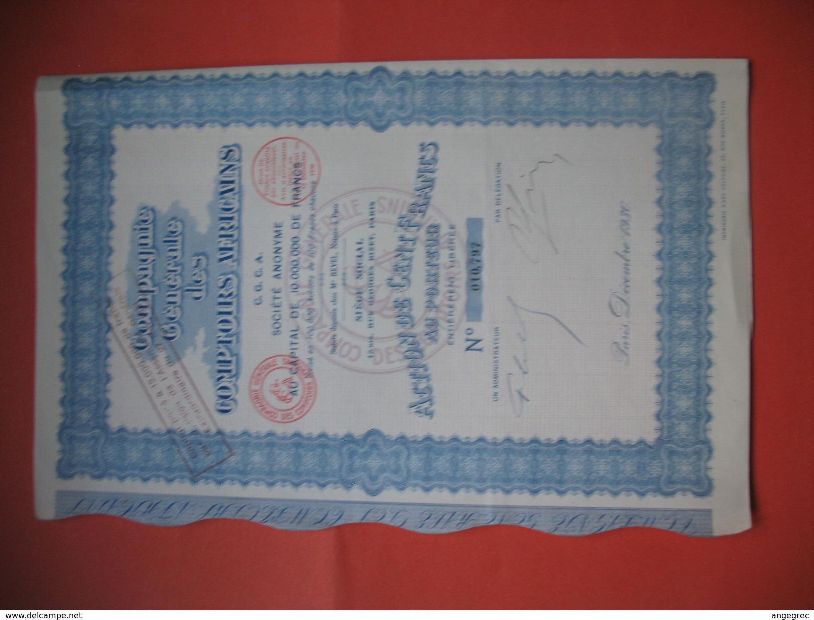 Compagnie Général Des Comptoirs Africains  N° 010 797 - Afrique