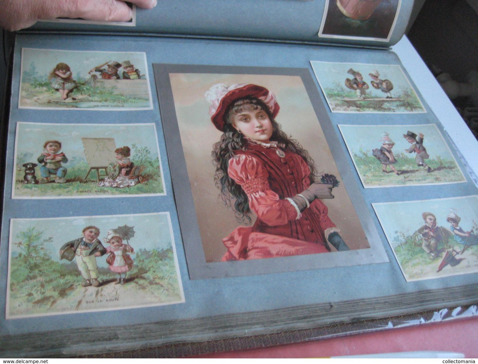 Old Thick Album 1000 Chromos Litho 1880 à 1885, All Splendid Condition, Evaluate The Scans, Many Topics, Superbe Grandes - Chromos