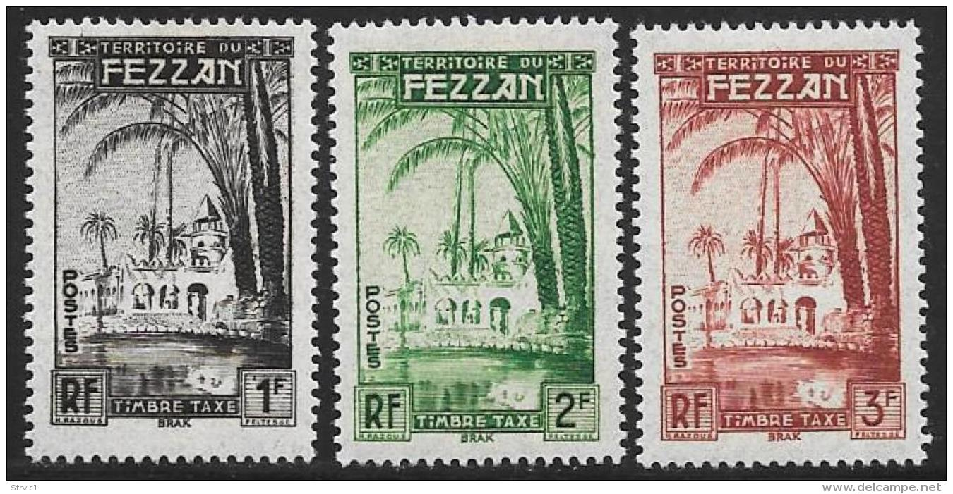 Libya, Fezzan, Scott # 2NJ1-3 Mint Hinged Postage Due, 1950 - Fezzan (1943-1951)