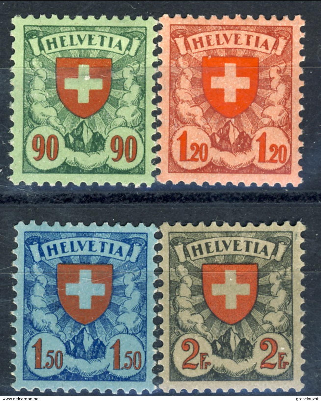 Svizzera 1924 Serie N. 208-211 MLH Cat. € 180 - Nuovi