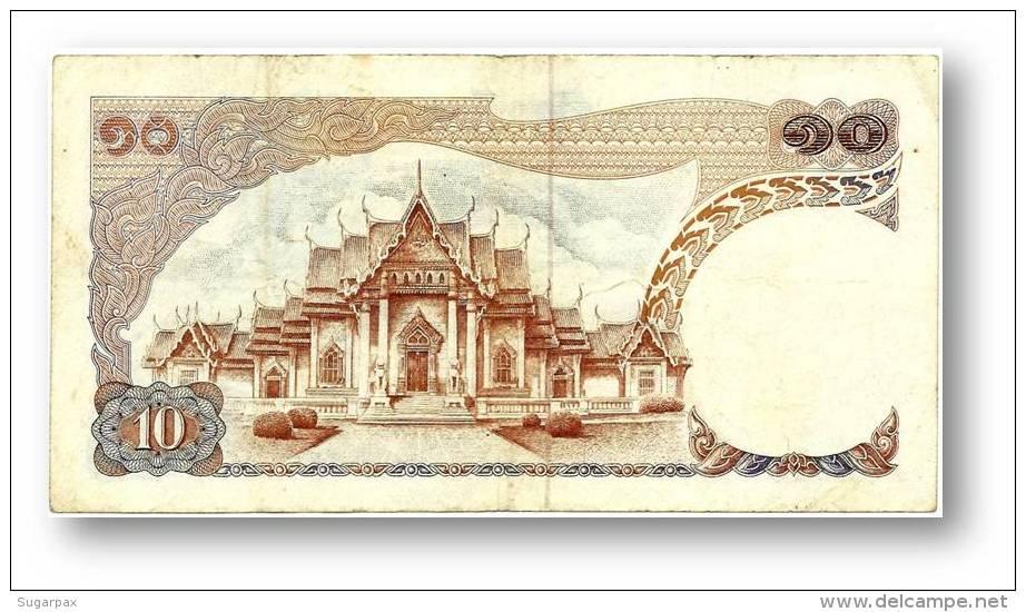 THAILAND - 10 Baht - ND ( 1969 - 1978 ) - Pick 83 - Sign. 49 - Serie 0 B - King Rama IX - 2 Scans - Tailandia