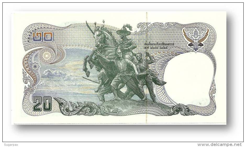 THAILAND - 20 Baht - ND ( 1981 ) - Pick 88 - Sign. 56 - Serie 1 G - King Rama IX - 2 Scans - Thaïlande