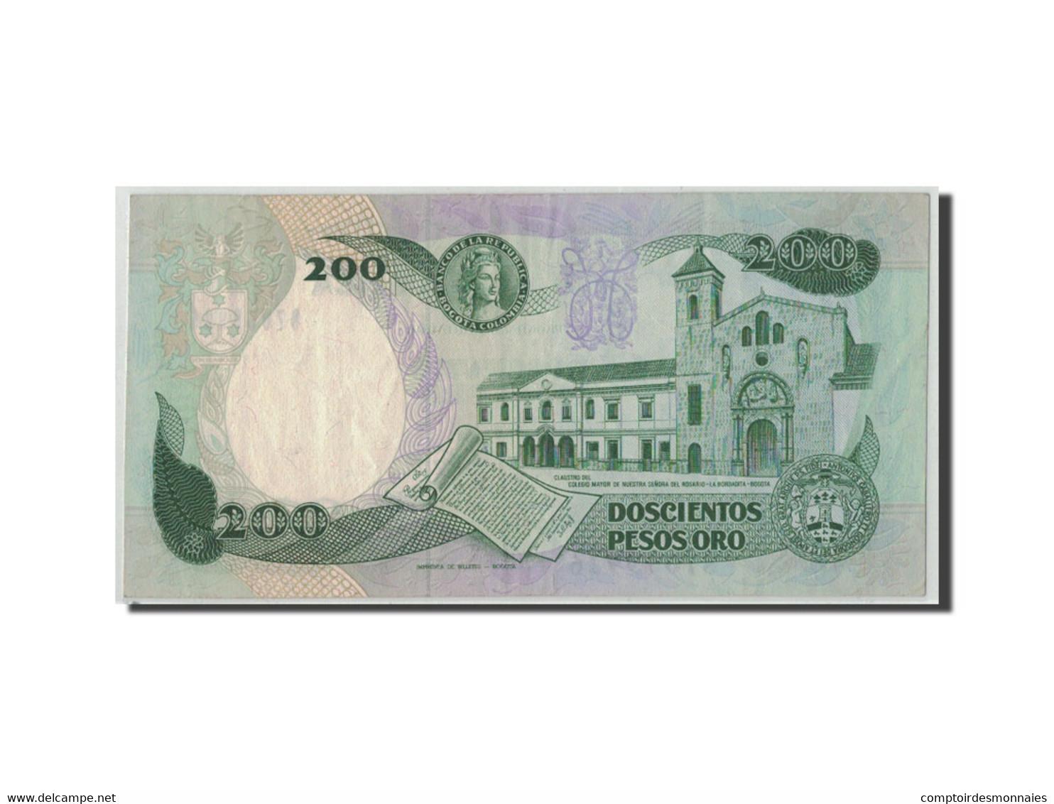 Colombie, 200 Pesos Oro, 1989, KM:429d, 1989-04-01, TB - Colombie