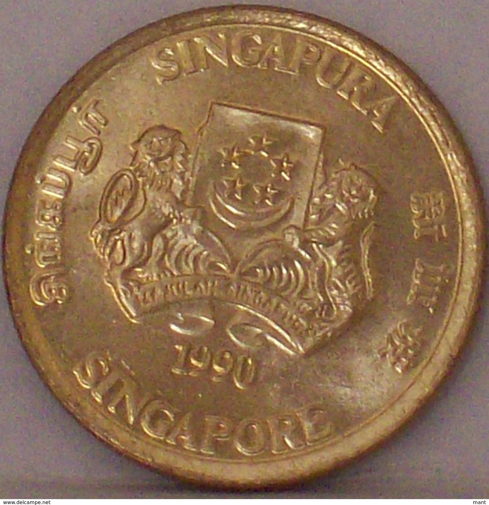 SINGAPORE - 5 Centesimi 1990 - Singapore