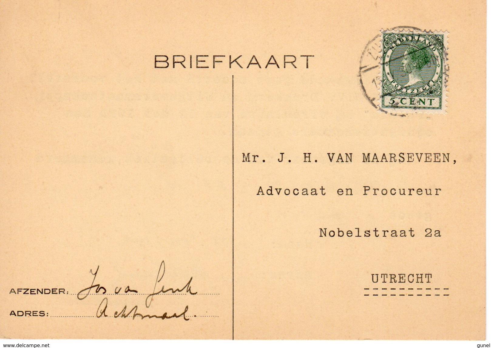 1930  Bk Naar Apeldoorn Met Langebalk ZUNDERT Van ACHTMAAL - Postal History