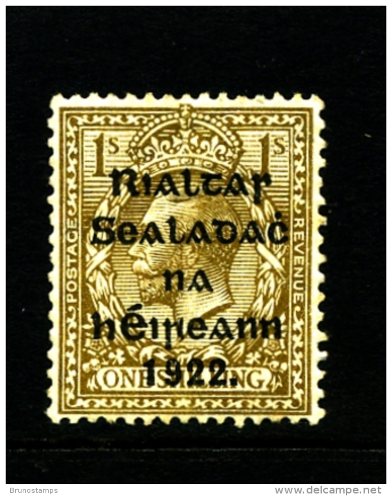 IRELAND/EIRE - 1922 1s. OVERPRINTED THOM  MINT SG 15 - 1922 Governo Provvisorio