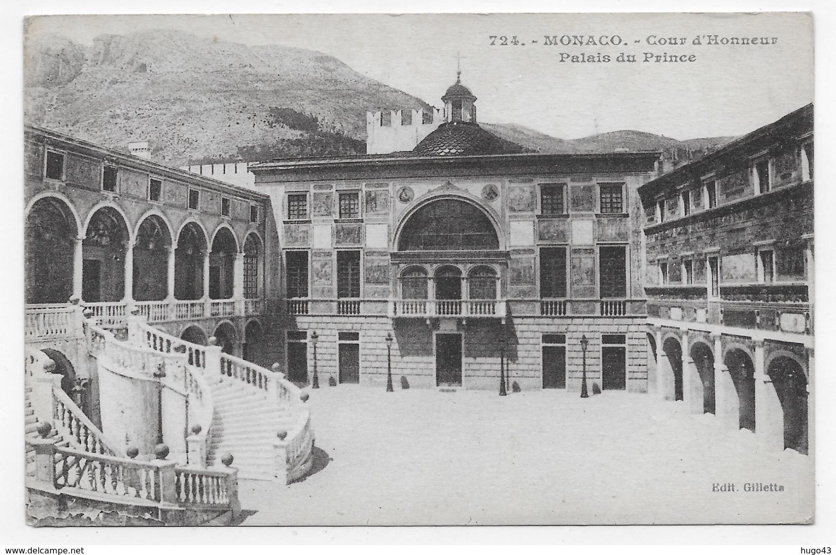 MONACO - N° 724 - COUR D' HONNEUR - PALAIS DU PRINCE - CPA NON VOYAGEE - Prince's Palace