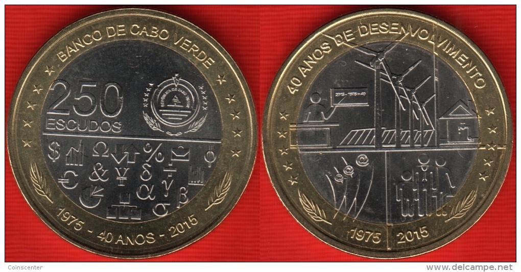 """Cape Verde 250 Escudos 2015 """"Independence And Development"""" BiMetallic UNC - Cap Vert"""