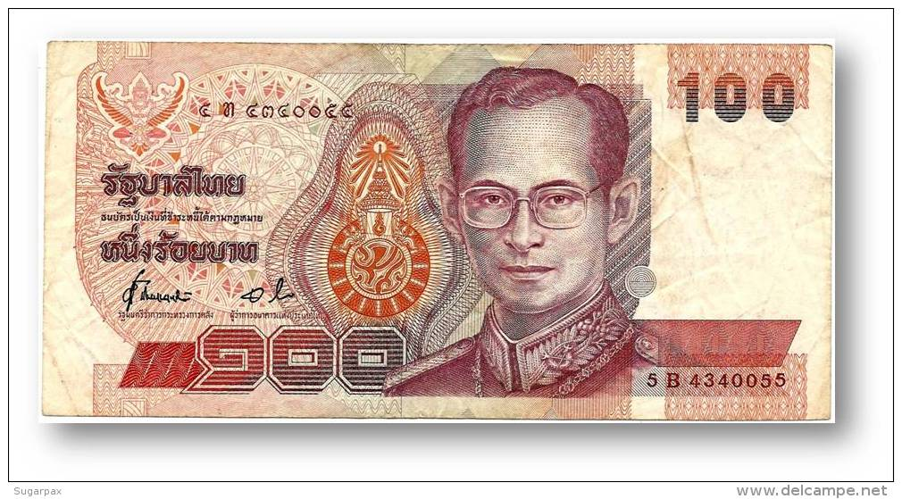 THAILAND - 100 Baht - ND ( 1994 ) - Pick 97 - Sign. 72 - Serie 5 B - King Rama IX - 2 Scans - Thaïlande