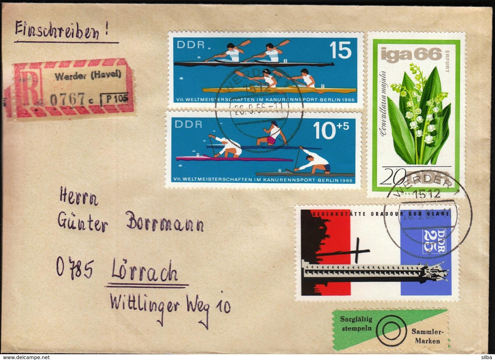 Germany DDR Werder 1966 / Canoe, Kayak World Championship - Canoë
