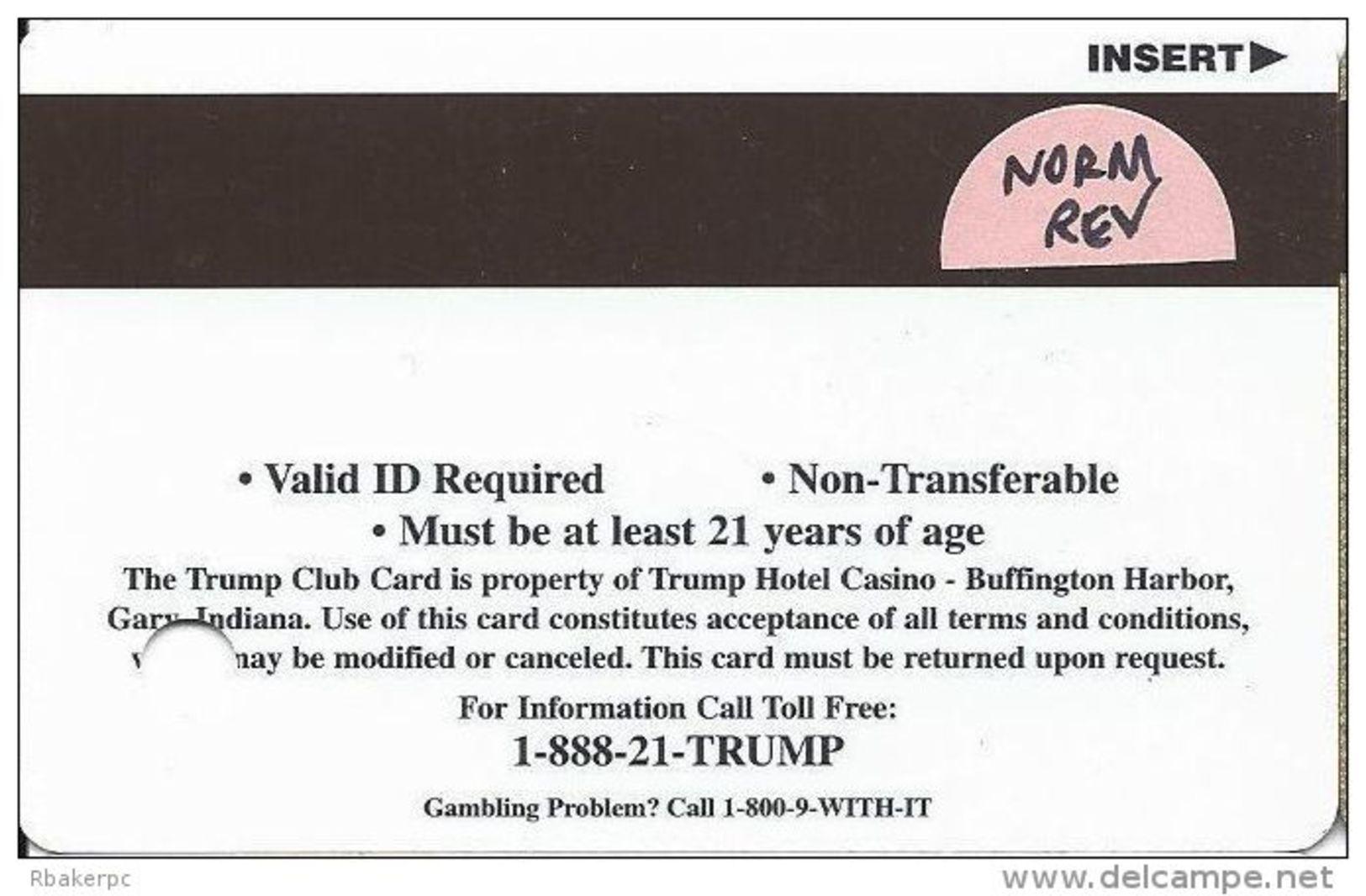 Trump Casino Buffington Harbor IN - Slot Card - Normal Reverse - Casino Cards
