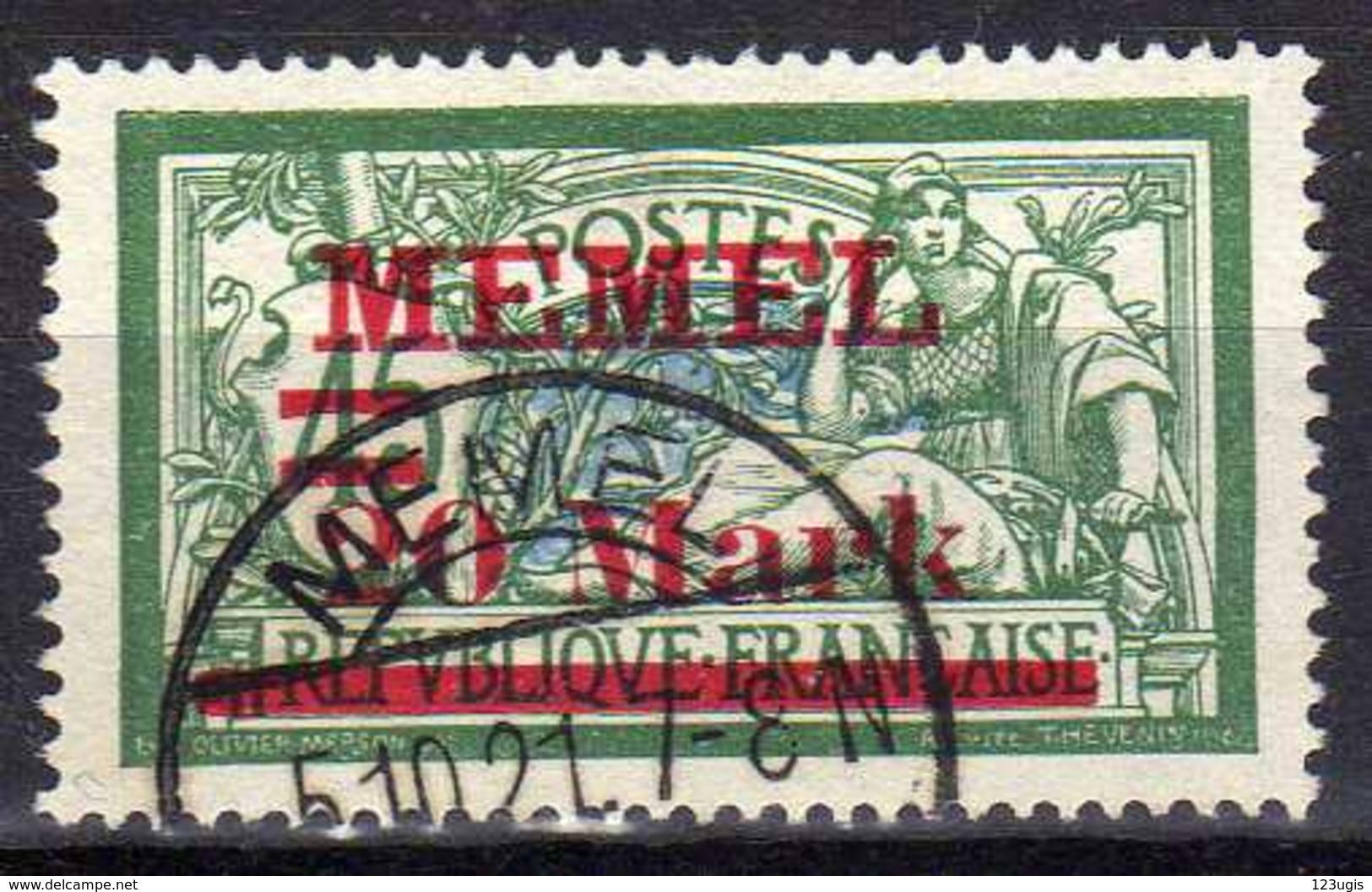 Memel 1921 Mi 39 I, Gestempelt [280117L] - Memelgebiet