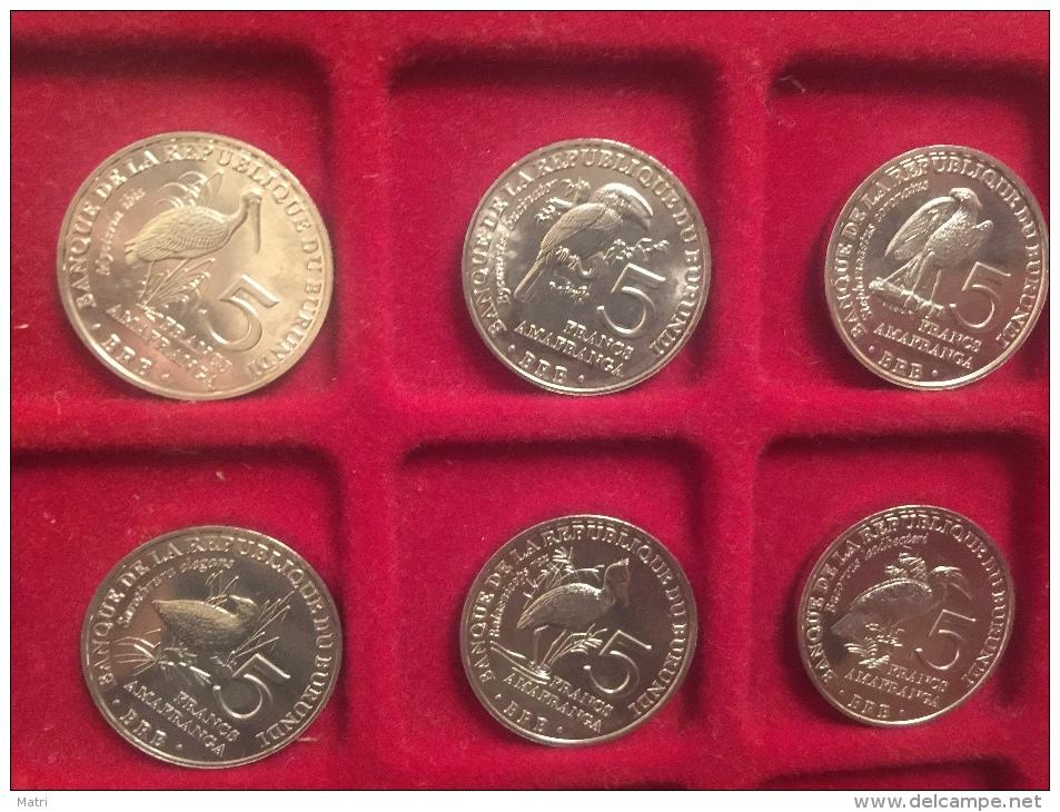 Burundi Set Of 6 Coins (5 Francs - Birds) 2014 UNC - Burundi