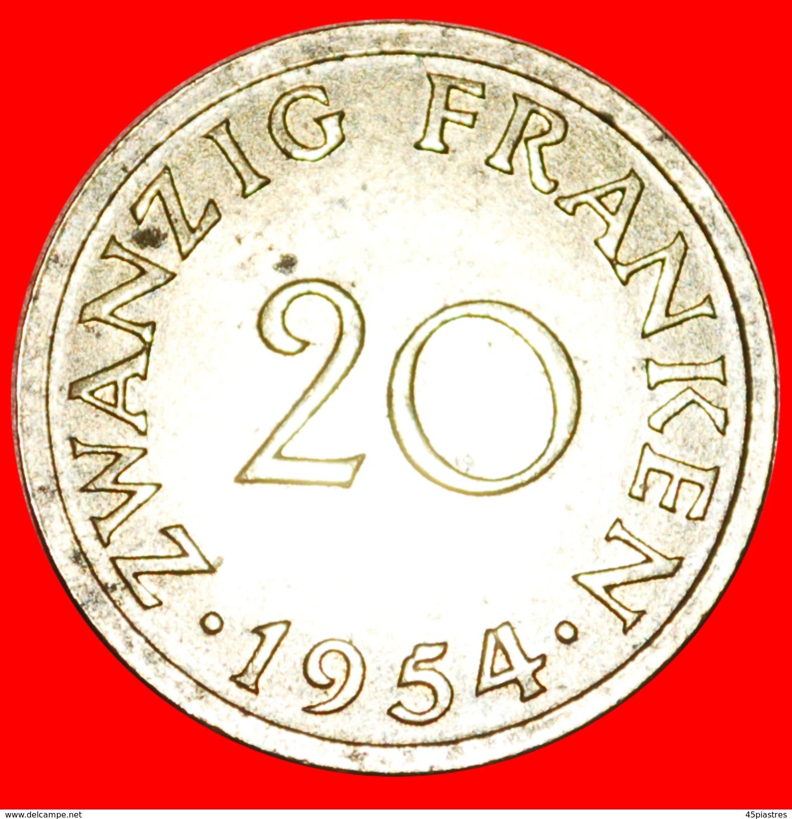 § FRANCE: SAAR ★ 20 FRANCS 1954! LOW START★ NO RESERVE! - Saar
