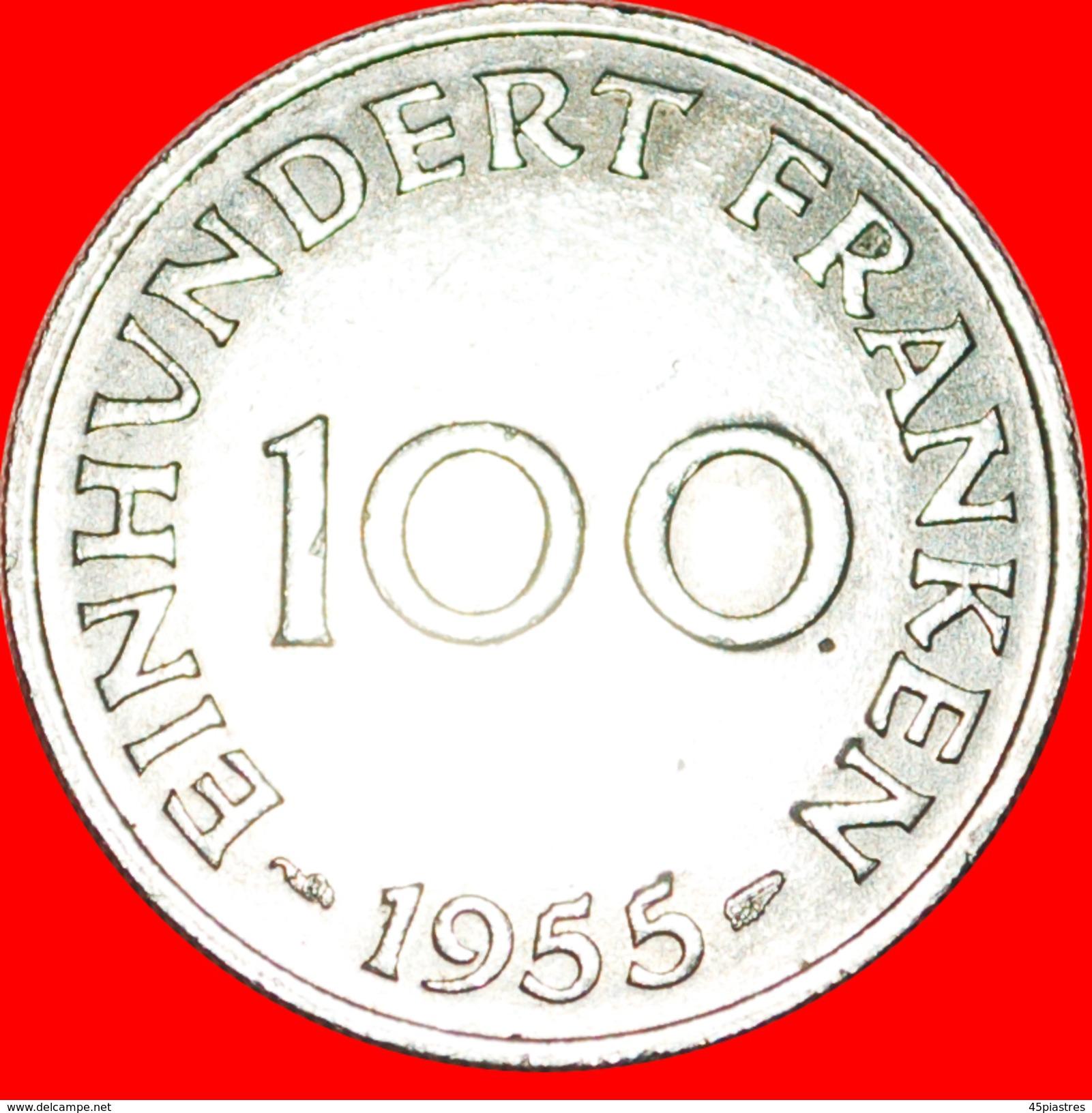 § FRANCE: SAAR ★ 100 FRANCS 1955! LOW START★ NO RESERVE! - Sarre