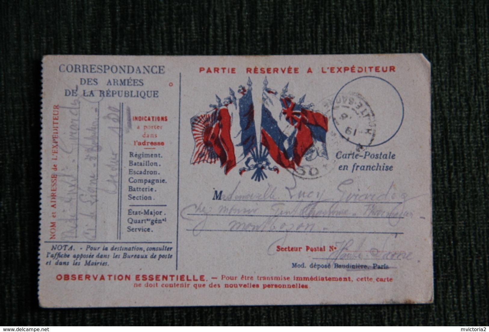 Correspondance Des Armées De La République, Année 1915 - Oorlog 1914-18