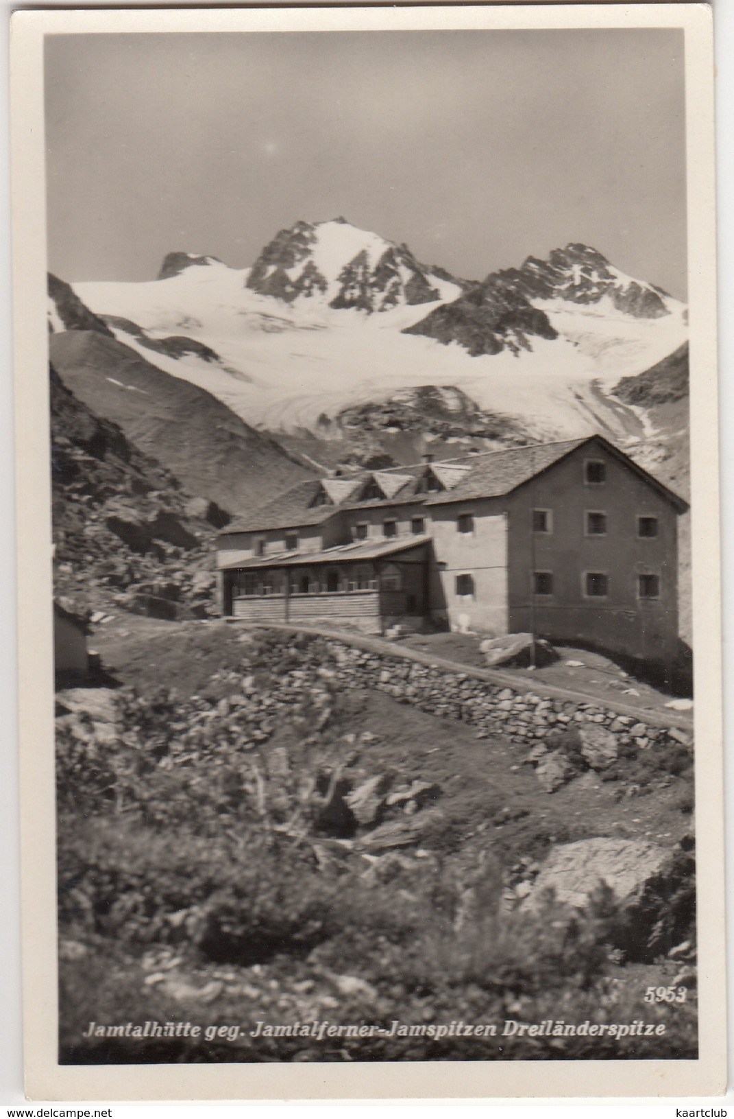 Jamtalhütte Geg. Jamtalferner-Jamspitzen Dreiländerspitze  - (Österreich/Austria) - Galtür
