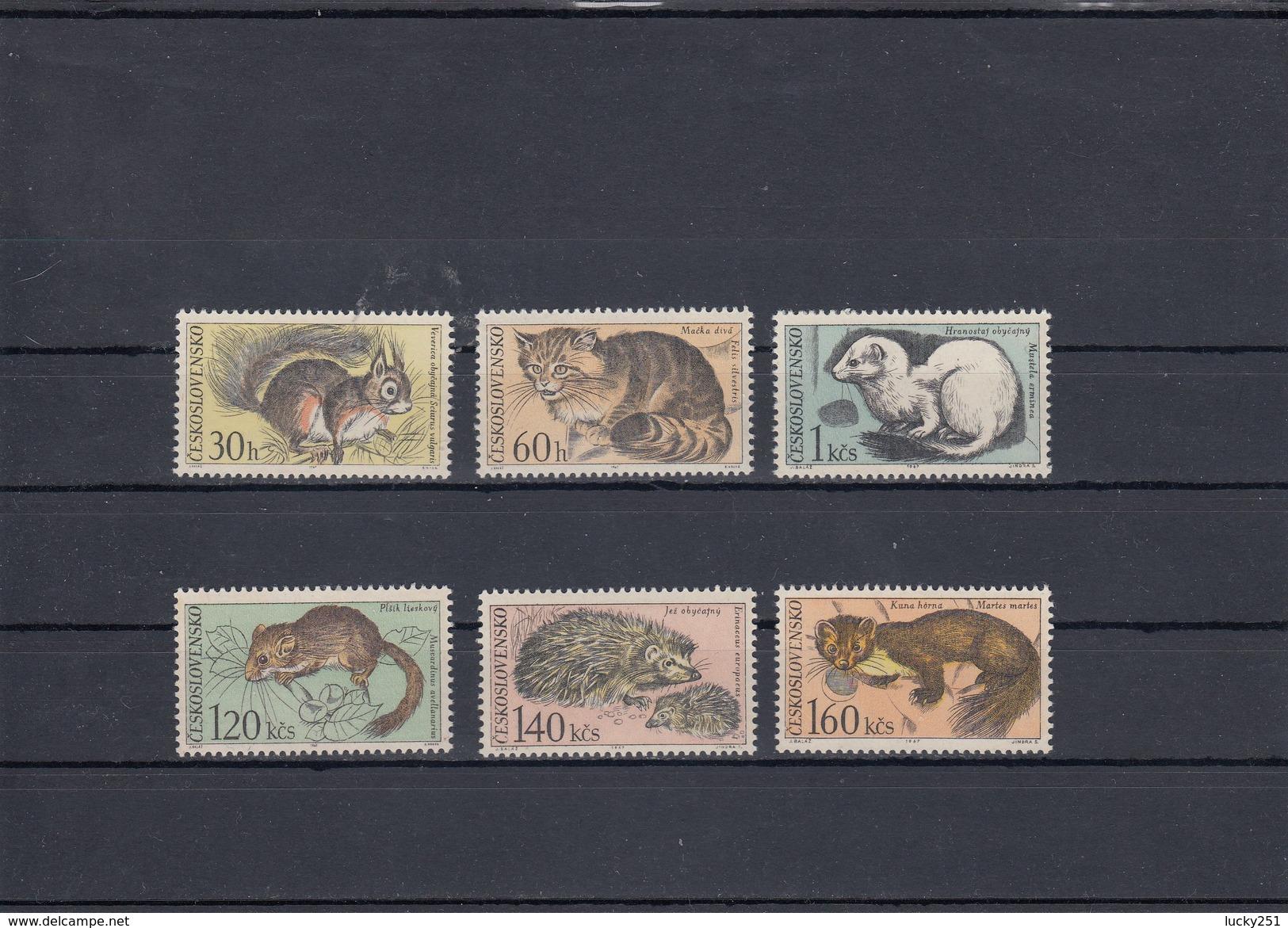 Tchécoslovaquie - Mammifères Divers - Neufs** - Année 1967 - Y.T. N° 1591/1596 - Nuovi