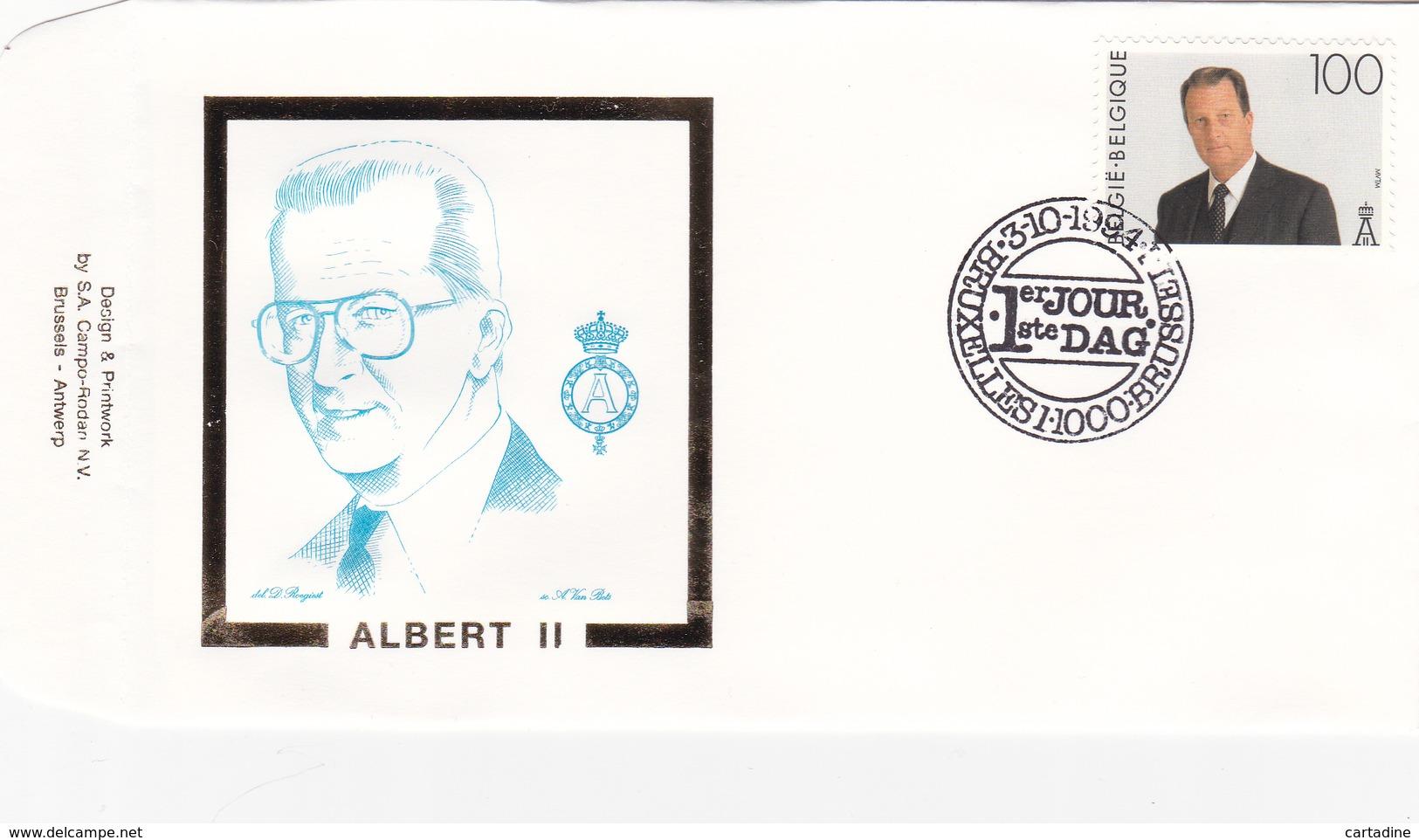 ALBERT II - Premier Jour -  Timbre N° 2576 - Sur Enveloppe - FDC