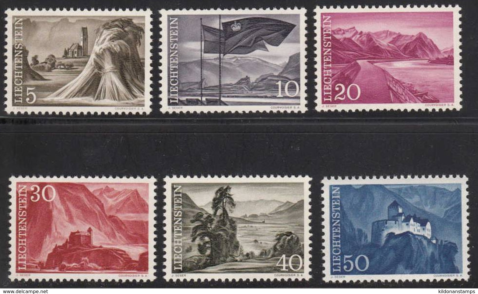 Liechtenstein 1959-64 Full Set, Mint No Hinge, Sc# 336-349 - Liechtenstein