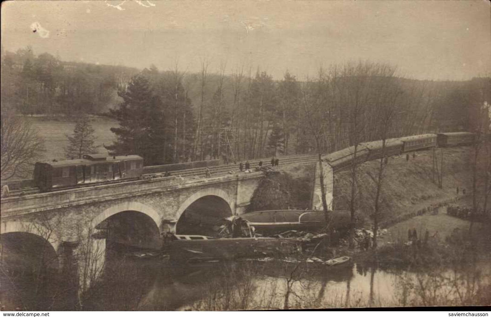 Cpa Carte Photo 86 Saint Benoit Accident Ferroviaire Déraillement D´un Tain Le 25 Mars 1925 - Saint Benoit