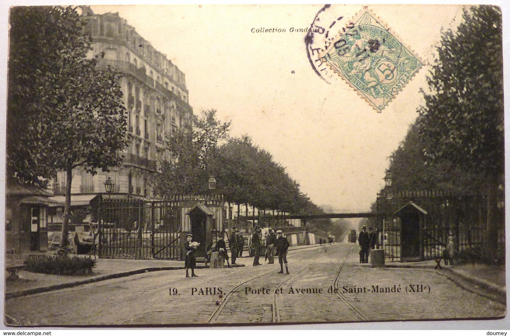 PORTE ET AVENUE DE SAINT MANDE - PARIS - Arrondissement: 12