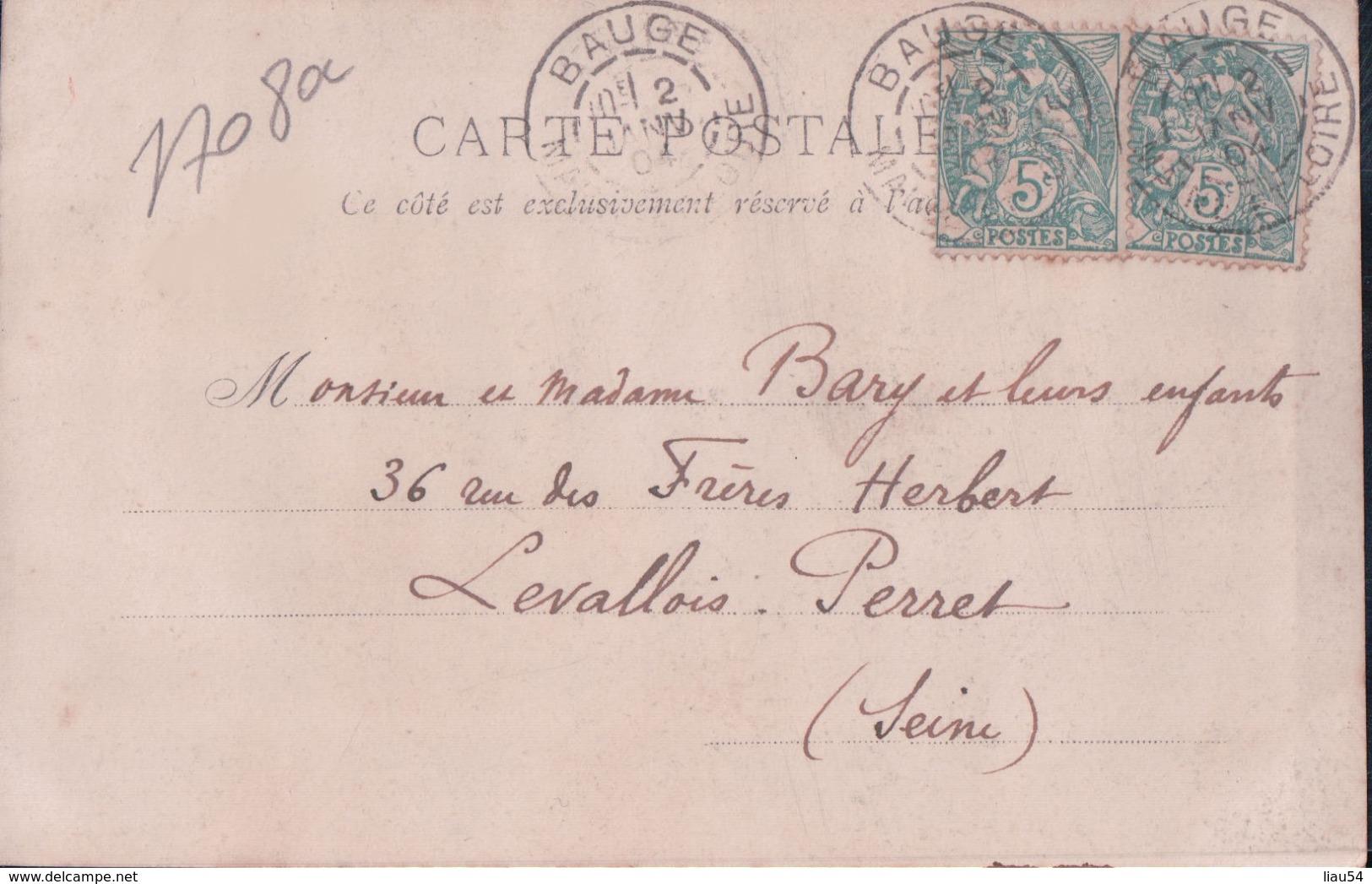 CARTE-PHOTO BAUGE 1904 - France
